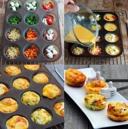 Експресна вкусотия за закуска, обяд или вечеря: Мини омлетчета асорти