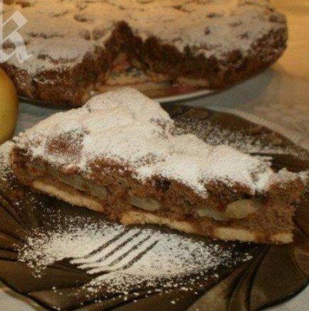 Бърз ябълков сладкиш с орехи и канела