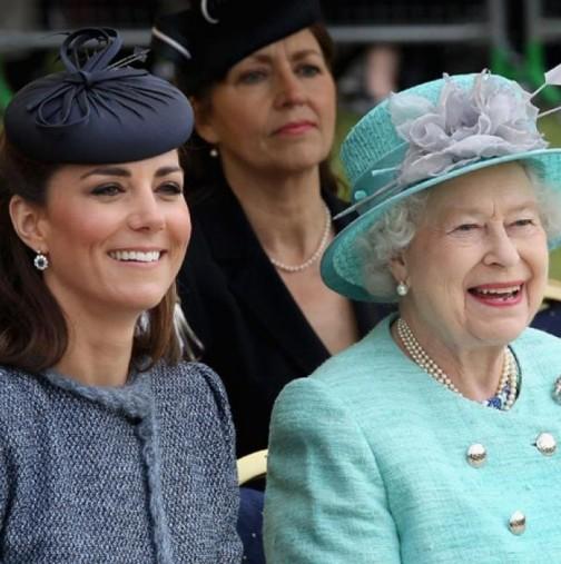 Кейт Мидълтън лази по нервите на кралицата-Ето как иска да кръсти новото бебе