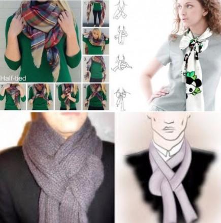 Как се връзва шал