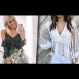 Модерни това лято: 10 варианта на зашеметяващи стилни блузи (Снимки)