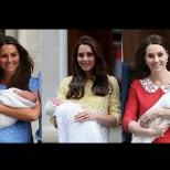 Кейт Мидълтън с трите бебета-Ето как изглеждаше в различните рокли при трите си раждания
