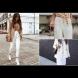 Модна тенденция на лятото 2018: Бели панталони, как да се комбинират правилно (Снимки)