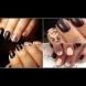 10 стилни и красиви идеи за тъмен маникюр на къси нокти (Снимки)
