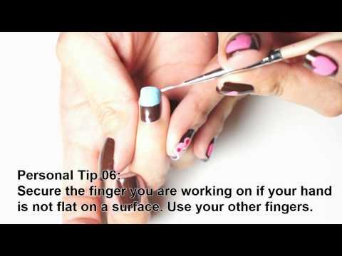 Как да рисувате маникюр с по другата си ръка