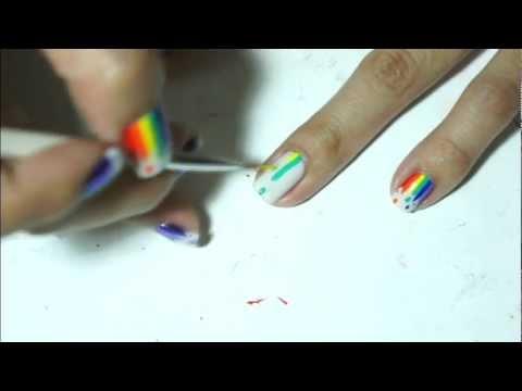 Маникюр с цветовете на дъгата