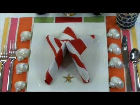 Как да сгънем салфетка във форма на морска звезда