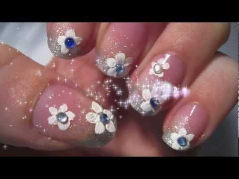 Как да си направим маникюр диамантено цвете