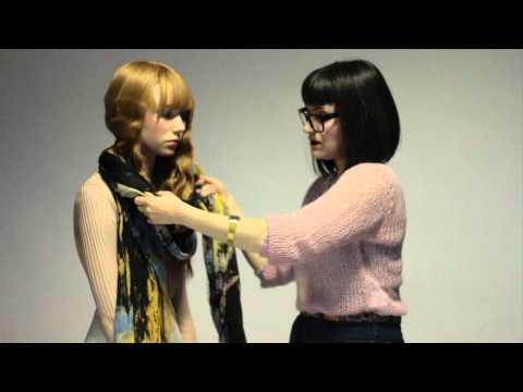 Как да си вържем шал в голям красив възел