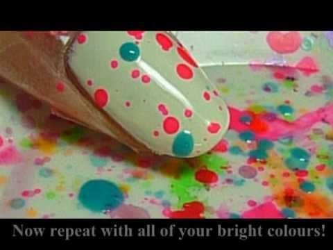 Как да си направим парти маникюр с ярки петна