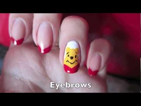 Как да си направим маникюр с Мечо Пух
