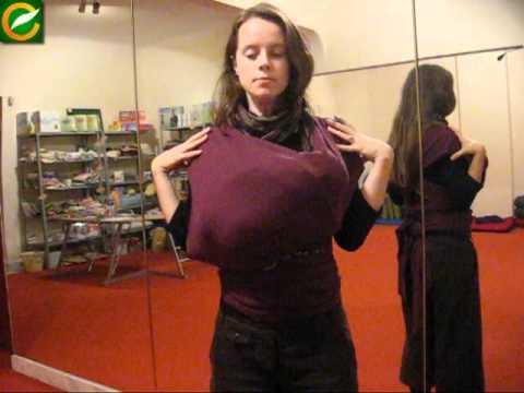 Слинг шал как да носим бебето Слингове