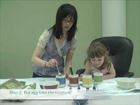 Как да украсим яйца за Великден с дъщеря си