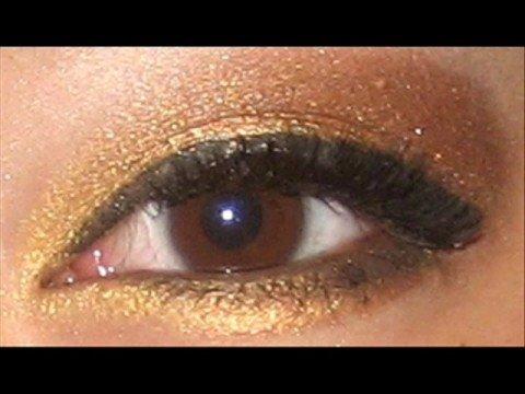 Как да си направим златист грим за кафяви очи