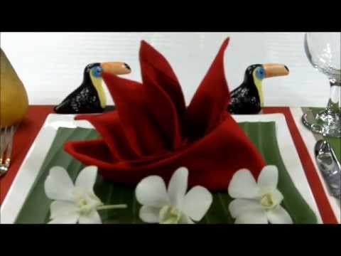 Как да сгънем салфетка във форма Райска птица