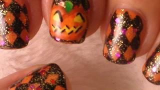 Маникюр за Хелоуин - фенер от тиква