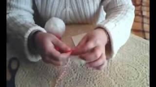 Как се прави мартеница от пискюли