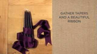 Страхотно украсена свещ подарък за гости