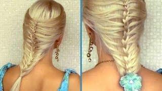 Романтична лятна прическа за средно дълга коса - френска клетка/ русалка