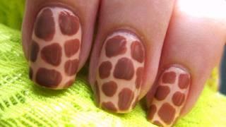 Как се прави маникюр с принт жираф