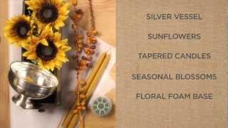 Как се прави декорация за свещ със слънчоглед