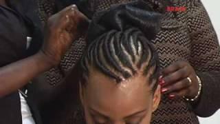 Как се правят Афро плитки по главата - част 1