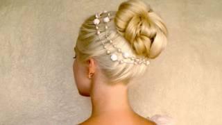 Сватбена прическа - красив кок