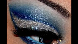 Как се прави супер блестящ грим в сиво и синьо