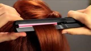 Прически с преса с обем в корените на косата