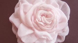 Декорация - как се прави копринено цвете