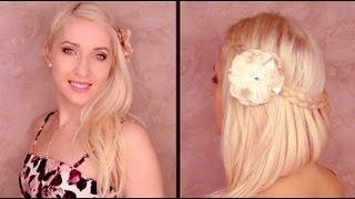 Романтична прическа за бал - дълга коса с декоративна плитка