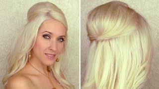 Прическа пусната коса с обем
