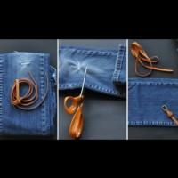 Как да си ушием чанта от стари дънки