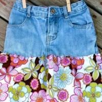 Как да си направим красива пола от старите дънки