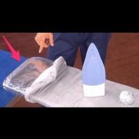 Как да гладим по-лесно с помощта на алуминиево фолио