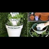 Как да направите саксия на три етажа за цветя и подправки