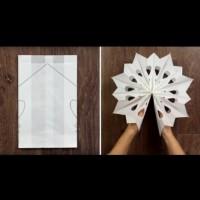 Как да си направим снежинки от хартия за украса