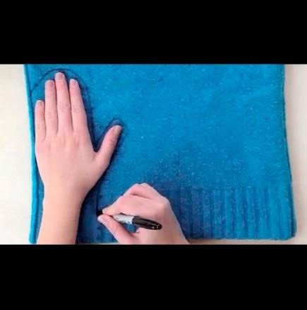 Как да си направим ръкавици без пръст от стария пуловер