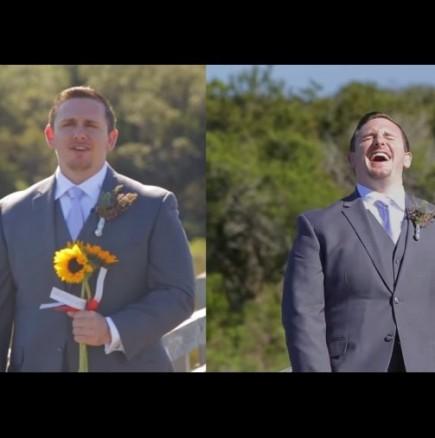 На младоженецът му падна ченето, като видя булката в каква