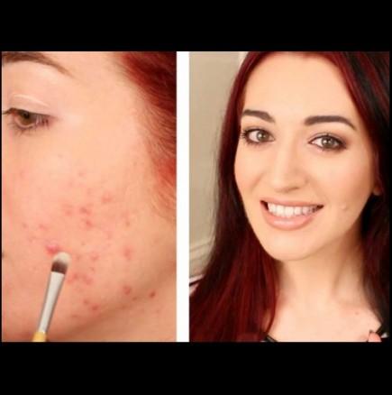 Как да прикрия пъпка на лицето си с грим