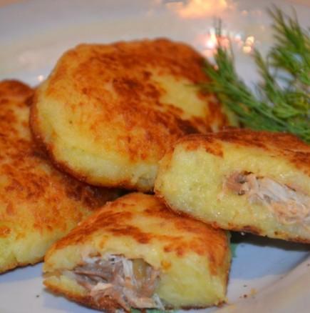 Как да си направя картофени кюфтета с плънка