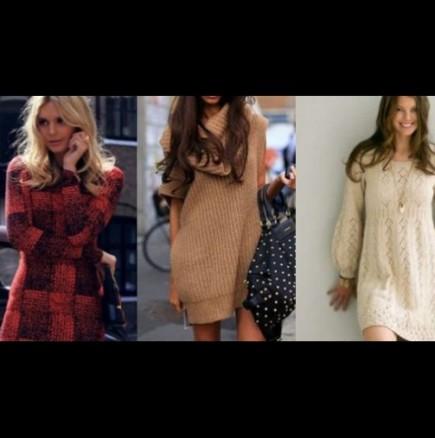 Как да комбинирате плетени рокли