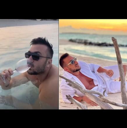Константин пусна смешно видео от Малдивите