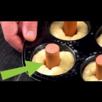 4 супер бързи видео-рецепти за кренвирши в тесто