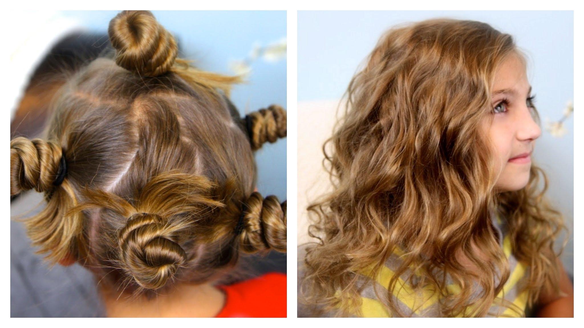 Прическа с вързана коса за момичета