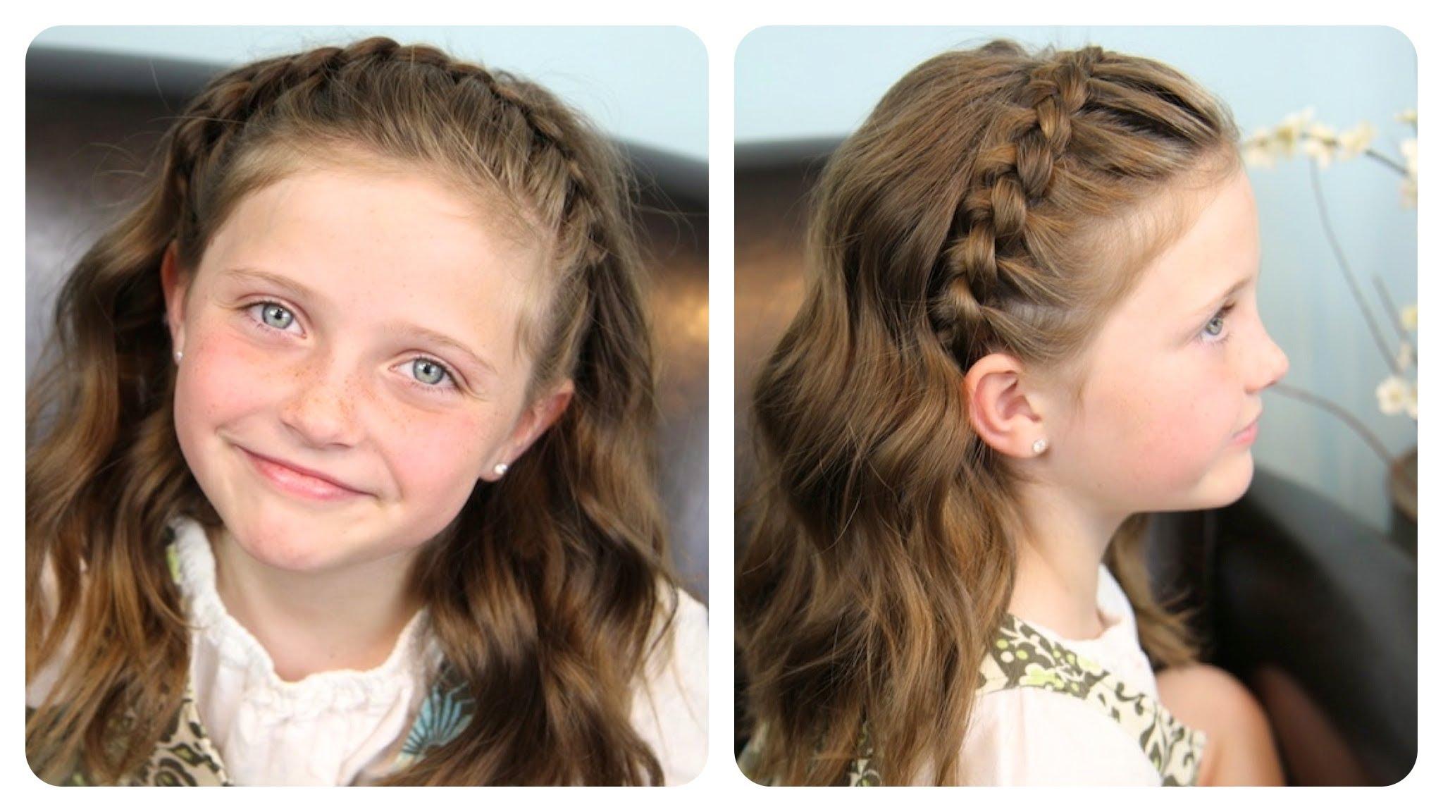 Прическа -Лента от коса за момичета