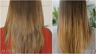Омбре прическа за права коса