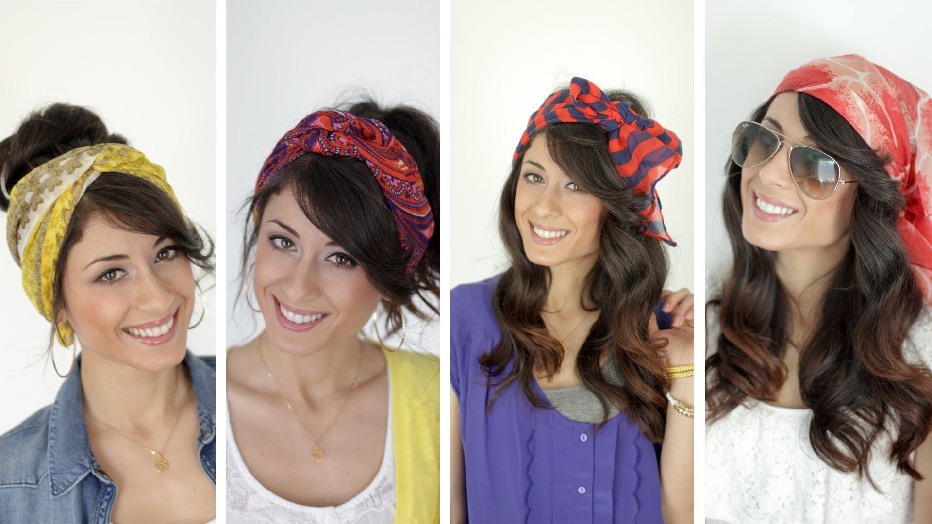 4 идеи как да си вържем шал за глава Видео