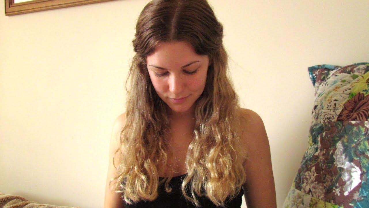Омбре прическа за светла коса