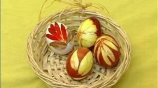 Декориране на яйца за Великден с природни материали